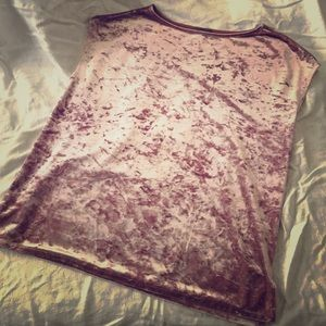 Vince Camuto Crushed Velvet Tee